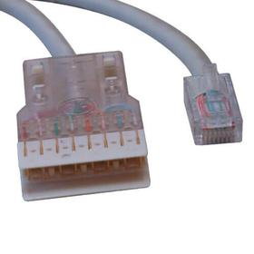 Cat5e 350 MHz Cable RJ45M/110 Connector - Gray, 25 ft.