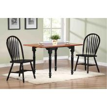 DLU-TLD3448-820-AB3PC  3 Piece Drop Leaf Dining Set  Arrowback Chairs