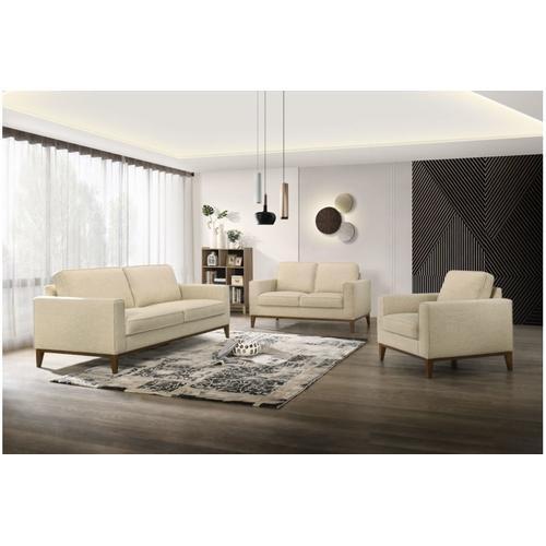 Porter International Designs - Oakley Cream Sofa, Loveseat & Chair, SWU4038