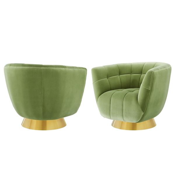 Hanna Swivel Chair, Avocado