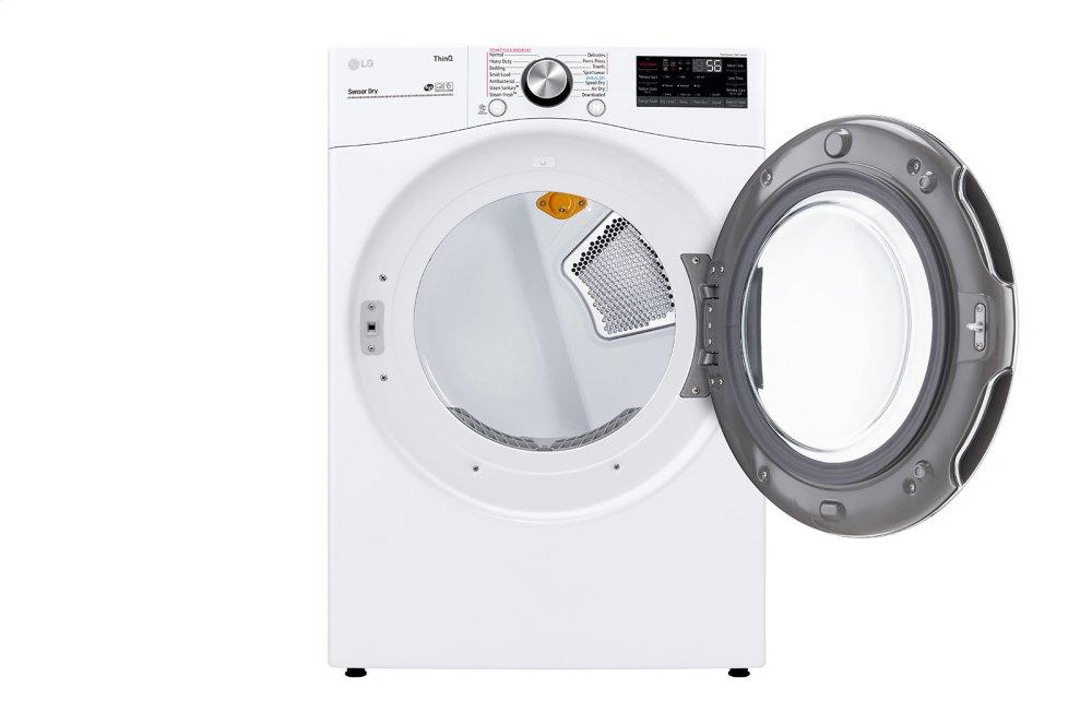 7.4 cu. ft. Ultra Large Capacity Smart wi-fi Enabled Front Load Electric Dryer with TurboSteam™ and Built-In Intelligence Photo #5