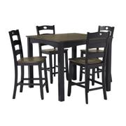 Froshburg Counter Height Dining Room Table and Bar Stools (set of 5) Product Image
