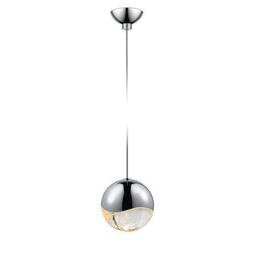 Sonneman - A Way of Light - Grapes® LED Pendant [Size=Single Medium, Color/Finish=Polished Chrome, Shape=Micro-Dome Canopy]