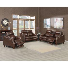 Akari 3-Piece Leather Dual-Power Reclining Set (Sofa, Loveseat & Chair)