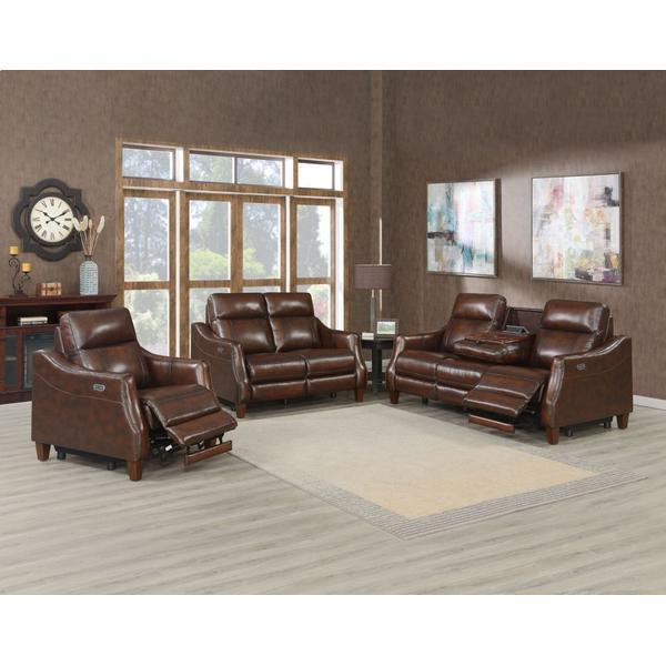 See Details - Akari 3-Piece Leather Dual-Power Reclining Set (Sofa, Loveseat & Chair)