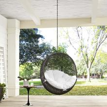 Hide Outdoor Patio Swing Chair Without Stand in Gray White
