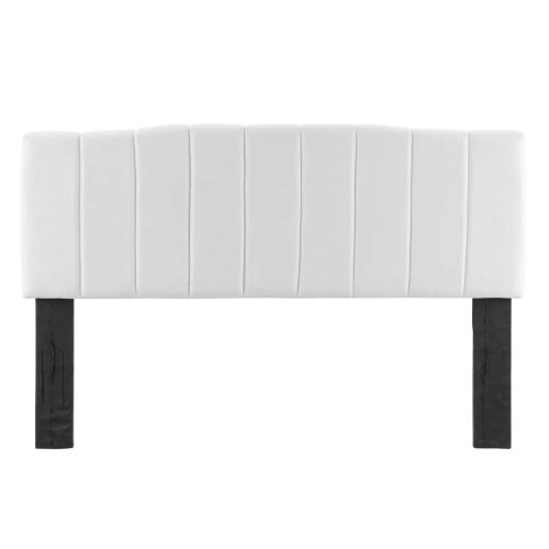 Modway - Camilla Channel Tufted Twin Performance Velvet Headboard in White
