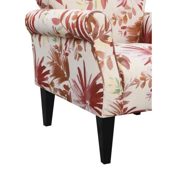 Lydia Accent Chair, Crimson Floral U3600-05-52