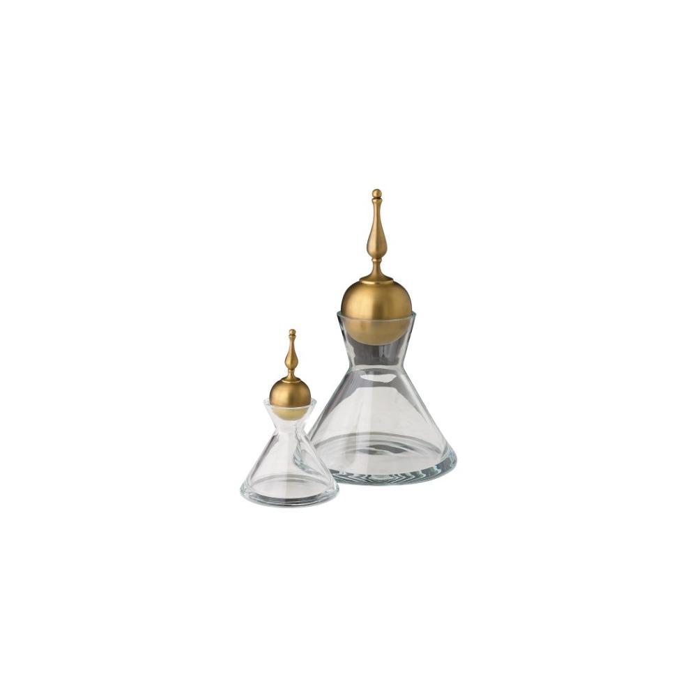 Finial Decanter-Brass-Lg