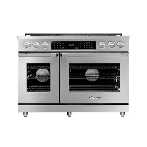 "48"" Dual Fuel Pro Range, Silver Stainless Steel, Natural Gas"
