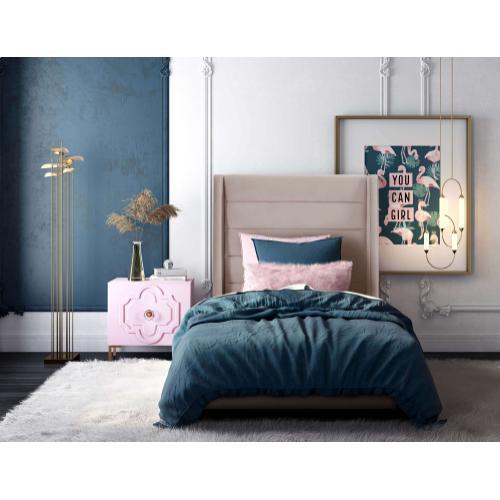 Koah Blush Velvet Bed in Twin