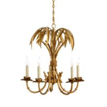 Bamboo Grove Chandelier/gold