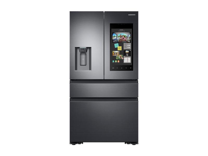 Samsung22 Cu. Ft. Family Hub™ Counter Depth 4-Door French Door Refrigerator In Black Stainless Steel