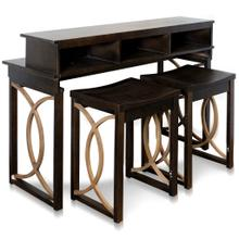 Cuvi Console and Bar Stool