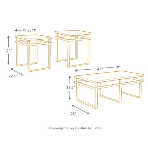 T180-13 Occasional Table Set (3/CN)