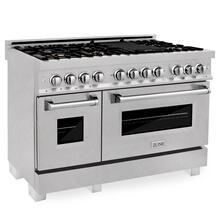 ZLINE 48 in. Professional 6.0 cu. ft. 7 Dual Fuel Range in DuraSnow® Stainless Steel with Brass Burners (RAS-SN-BR-48)