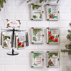Christmas Blessings Window Plaques Assortment (12 pc. assortment)