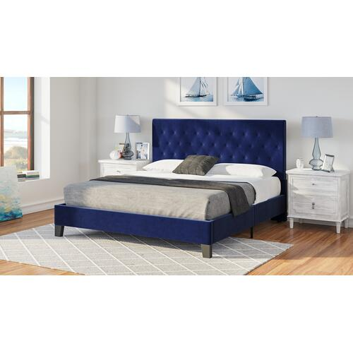 Amelia King Upholstered Bed, Navy B128-12hbfbr-14