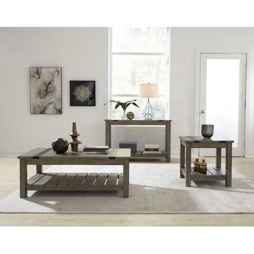 Gallery - Nelson Rustic Brown Console Table, Grey