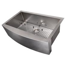 """See Details - ZLINE 33"""" Vail Farmhouse Apron Mount Single Bowl Kitchen Sink with Bottom Grid (SAS) [Color: Stainless Steel]"""