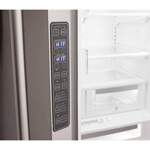 Matte Black Mercury French Door Refrigerator
