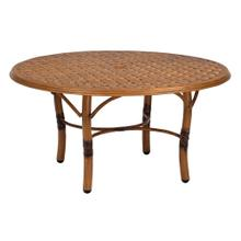 See Details - Glade Isle Tables Round Coffee Table with Thatch Top
