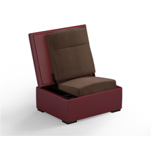 JumpSeat Ottoman, Ruby Cover / Mocha Seat