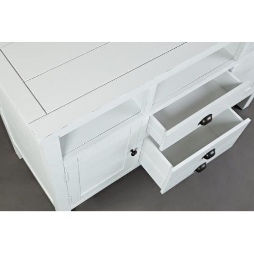 "Artisan's Craft 50"" Media Console - Weathered White"