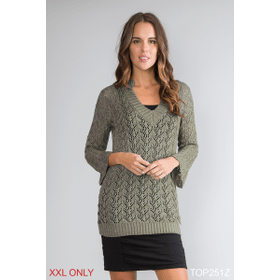Shimmer and Shine Open Knit Top - XXL (3 pc. ppk.)