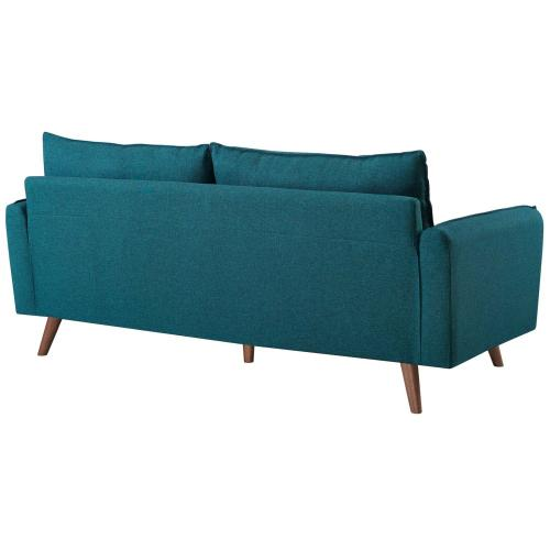 Revive Upholstered Fabric Sofa in Teal