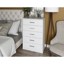 See Details - 7201 - 100% Solid Wood Metro 5-Drawer Chest - White