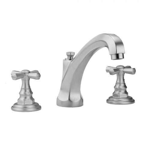 Jaclo - Polished Chrome - Westfield High Profile Faucet with Hex Cross Handles & Fully Polished & Plated Pop-Up Drain