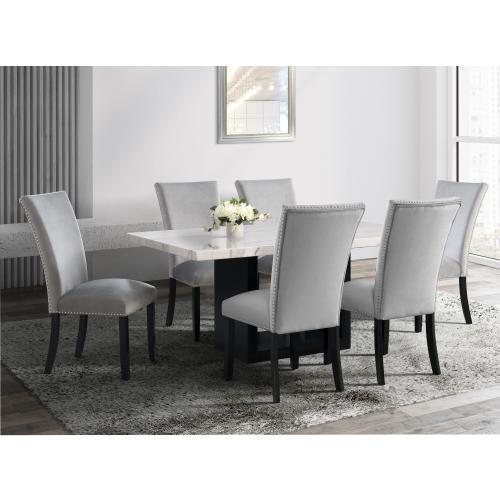 Valentino White Marble Standard Height Dining Table