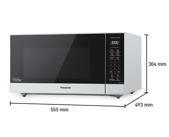 Black Panasonic NNST75LB Family Size Genius Cyclonic Inverter 1200 ...