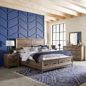 Queen Storage Bed, Dresser & Mirror, Night Stand