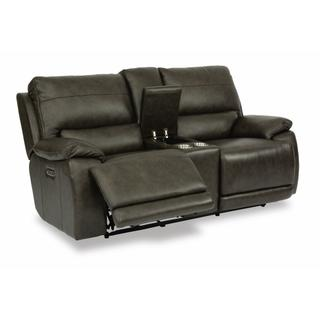 See Details - Horizon Power Reclining Loveseat with Console and Power Headrests