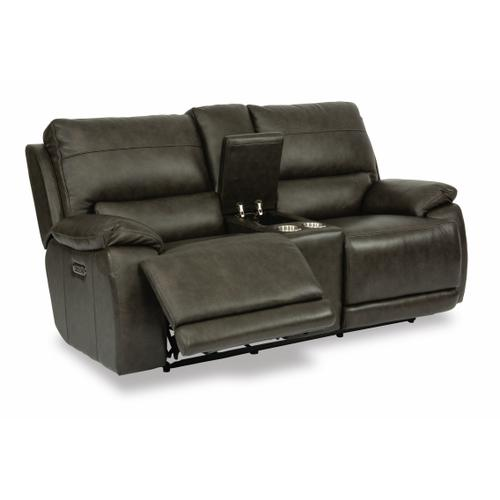 Gallery - Horizon Power Reclining Loveseat with Console and Power Headrests