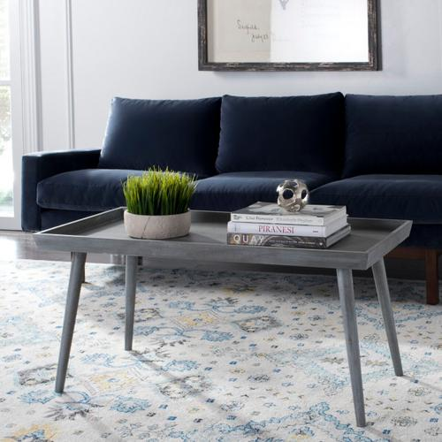 Safavieh - Nonie Coffee Table With Tray Top - Slate Grey