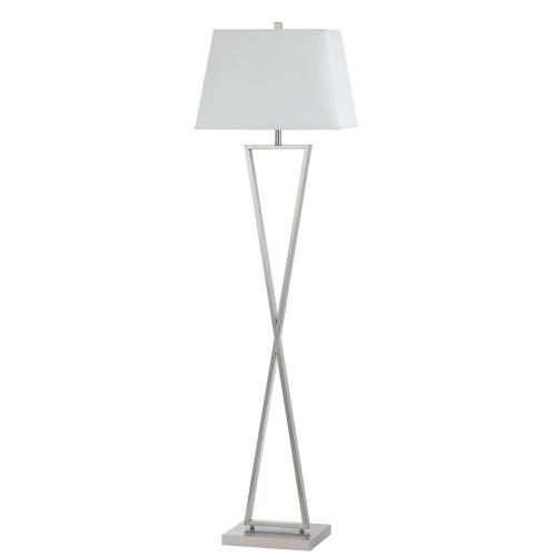 Cal Lighting & Accessories - 100W Metal Floor Lamp With Push Thru Socket Switch