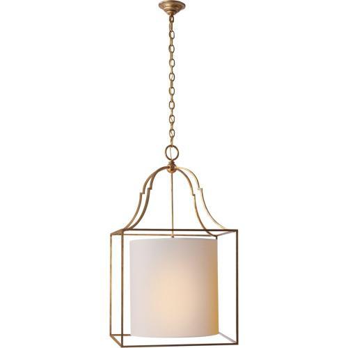 Visual Comfort CHC2167GI-NP E. F. Chapman Gustavian 3 Light 20 inch Gilded Iron Foyer Pendant Ceiling Light
