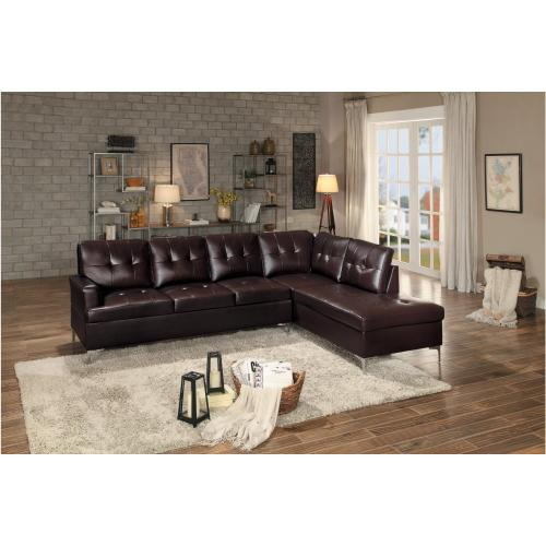 3-Piece Sectional with Right Chaise and Ottoman