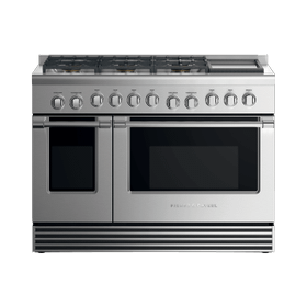 "Gas Range, 48"", 6 Burners with Griddle, LPG"