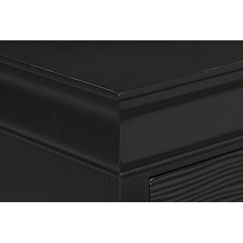 Wave Black Chest of Drawers