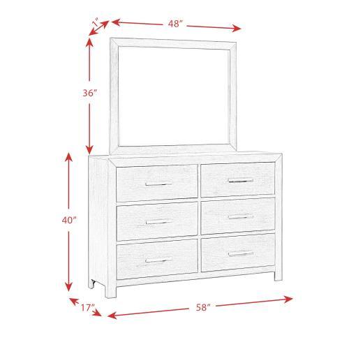 Shelby 6-Drawer Dresser & Mirror Set
