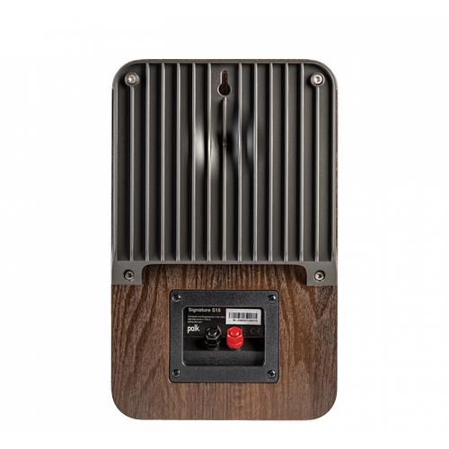 Signature Series American HiFi Home Theater Compact Bookshelf Speaker in Classic Brown Walnut