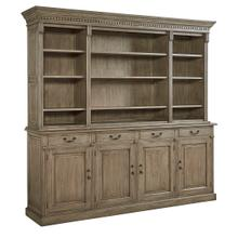 View Product - Vining Four Drawer Hutch Top Bookcase