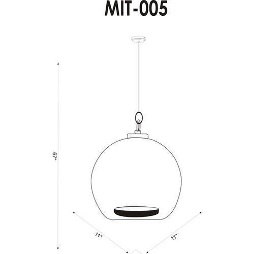 """Mist MIT-005 10""""H x 11""""W x 11""""D"""
