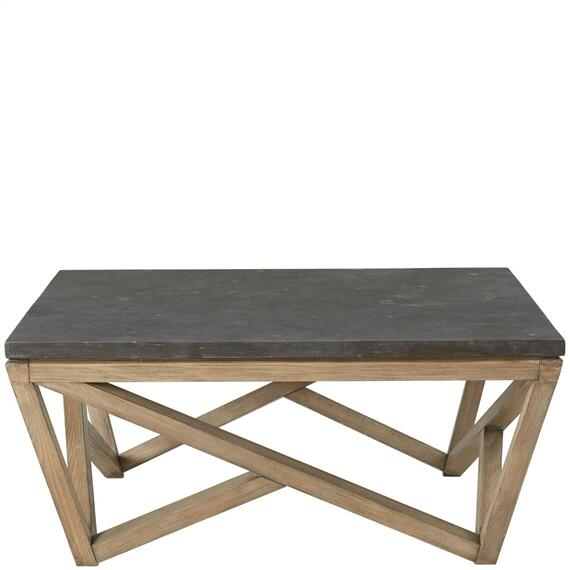 Riverside - Hawkins - Square Coffee Table - Antique Oak/bluestone Finish