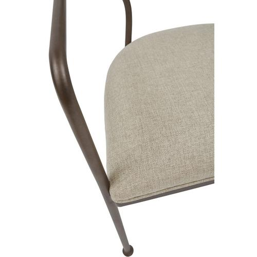 Oval Back Dining Chair with Arms