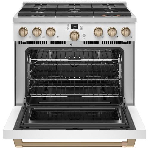 "Café 36"" Smart All-Gas Commercial-Style Range with 6 Burners (Natural Gas) - Coming Soon"